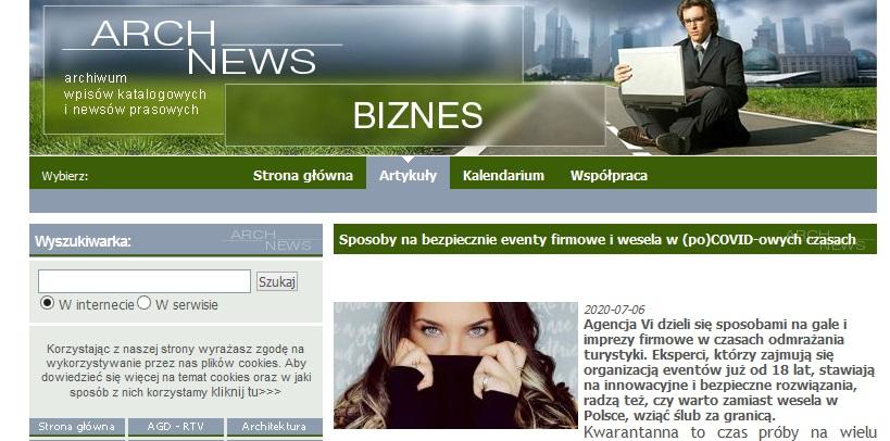 Screenshot 2020 07 09 Sposoby nabezpiecznie eventy firmowe iwesela wpoCOVID owych czasach Biznes wArchNEWS