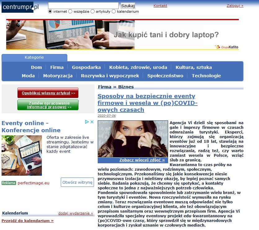 Screenshot 2020 07 14 Sposoby nabezpiecznie eventy firmowe iwesela wpoCOVID owych czasach Centrum PRasowe1