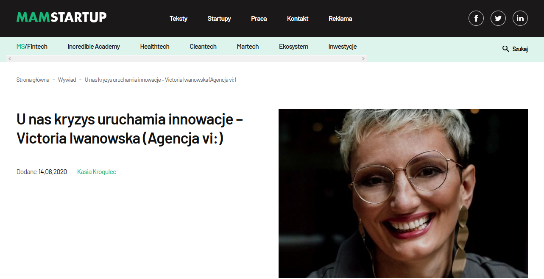 Screenshot 2020 08 18 Unas kryzys uruchamia innowacje – Victoria Iwanowska Agencja vi