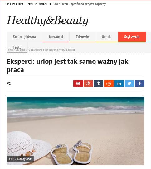 Eksperci urlop jest taksamo ważny jak praca Healthy Beauty