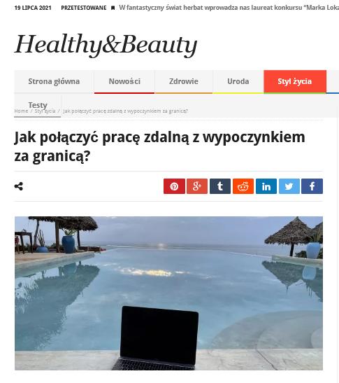 Jak połączyć pracę zdalną zwypoczynkiem zagranicą Healthy Beauty